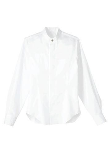 スタンドカラー長袖シャツ(男女兼用)