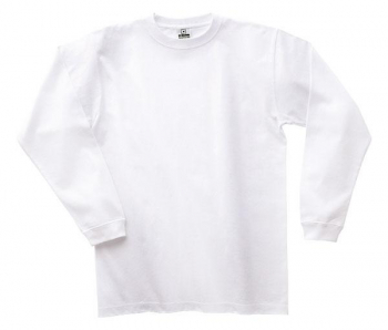 スーパーヘビーウェイト長袖Tシャツ(ホワ