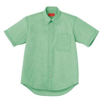 ピンストライプBD半袖シャツ