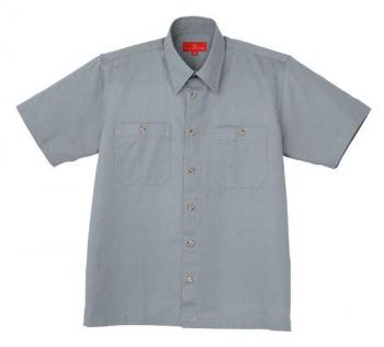 コットンツイル半袖シャツ