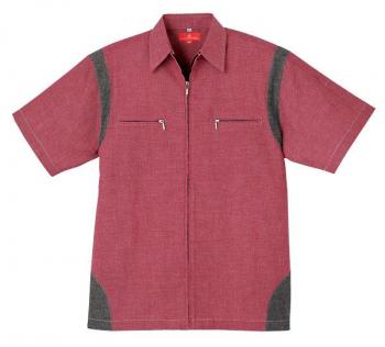 ダンガリー半袖シャツジャケット