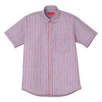 ストライプBD半袖シャツ