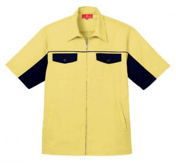 ジップ半袖シャツジャケット
