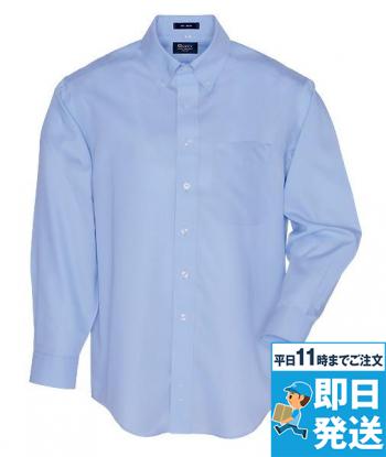 長袖ポプリンBDシャツ