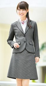 [ボンディール]事務服 Aラインスカート チェック 362190