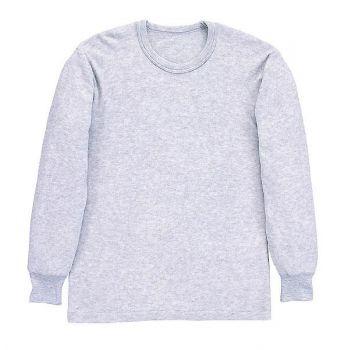 [シンメン]毛混両面起毛長袖丸首シャツ