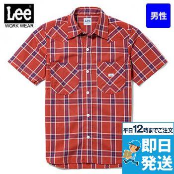 LCS46008 Lee ウエスタンチェック半袖/シャツ(男性用)