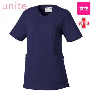 UN-0074 UNITE(ユナイト) ブロックニット スクラブ(女性用)