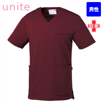 UN-0075 UNITE(ユナイト) ブロックニット スクラブ(男性用)