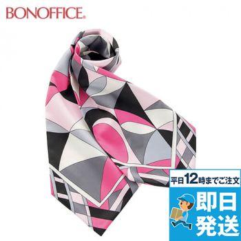 BA9136 BONMAX スカーフ 都会的なパターンが魅力の正統派