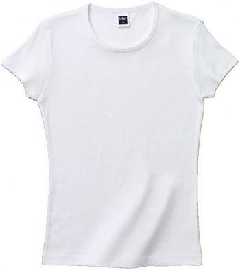 リブクルーネックTシャツ(ホワイト)