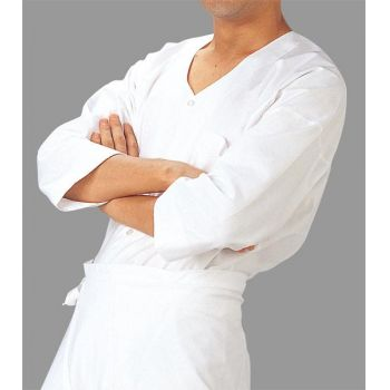 白鯉口シャツ