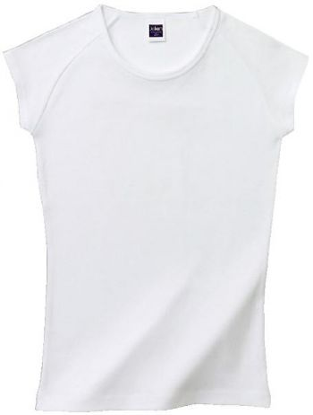 リブカップスリーブTシャツ(ホワイト)