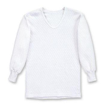 [シンメン]キルティング長袖シャツ