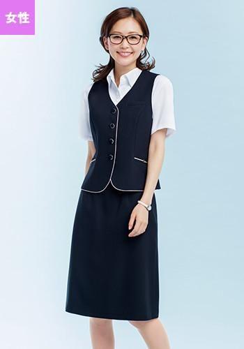 [グロウ]事務服 後ろマーメイドスカート