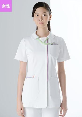 [カゼン]医療 半袖ジャケット(女性用)