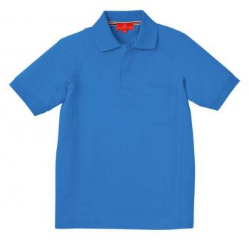 ジップ半袖ポロシャツ(ラグラン袖)