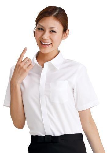 [サンペックス]飲食 半袖シャツ(男女兼