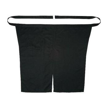 [シンメン]飲食 厨房用 黒エプロン