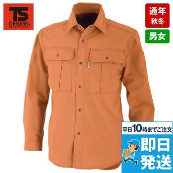 8815 TS DESIGN チペア・シーティング長袖ワークシャツ TC 形態安定
