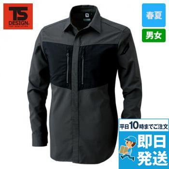 84605 TS DESIGN ハイブリッドストレッチシャツ