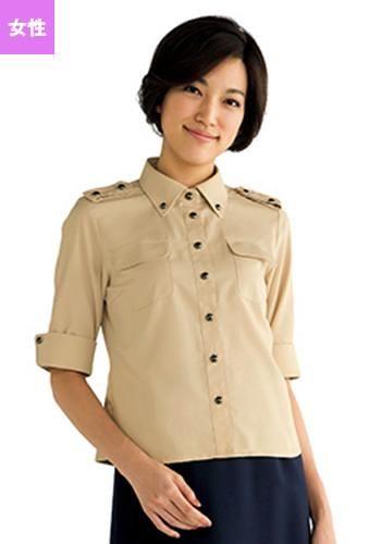 [フェローズ]フォーマル 五分袖 シャツ