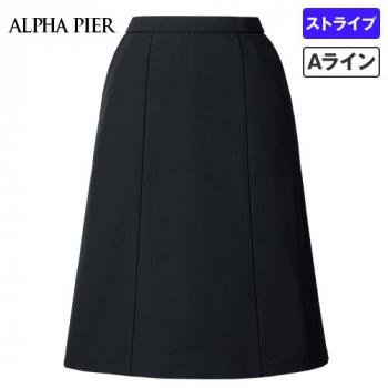 AR3886 アルファピア Aラインスカート シャドーストライプ