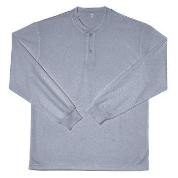 [シンメン]ドライ長袖Tシャツ(ヘンリー