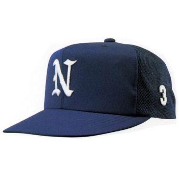 ニットバックメッシュ六方型野球帽(アジャ