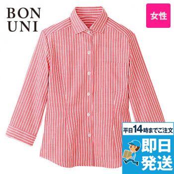 24211 BONUNI(ボストン商会) 七分袖シャツ(女性用) ストライプ