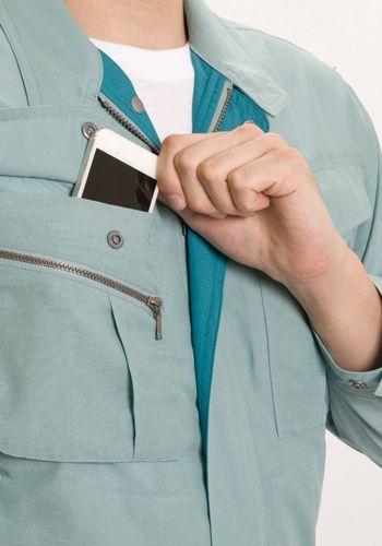 右胸ポケット携帯電話入
