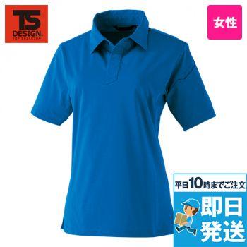910551 TS DESIGN TS 4Dレディースショートポロシャツ