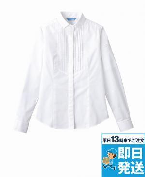 ピンタックボタンダウンシャツ(長袖)[女