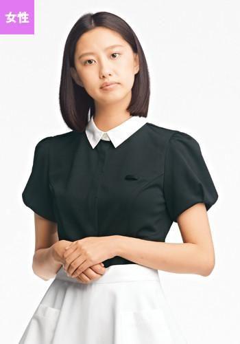 オーバーブラウス(黒) 半袖(女性用)