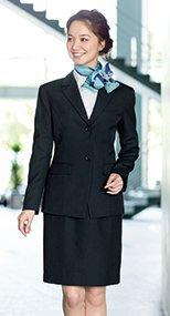 en joie(アンジョア) 51050 控えめなモノトーンがシックな雰囲気でウール混のスカート 無地 93-51050
