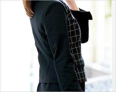 ニット素材の袖
