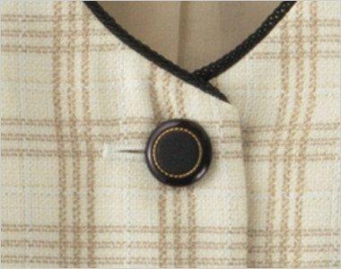 ゴールドリング×黒ボタンという高級感ただよう雰囲気のボタン