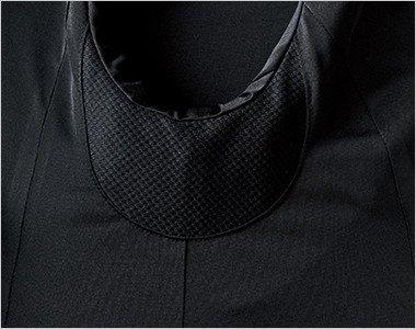汗ジミ対策の脇下切替は通気性の高い素材を使用し吸水、拡散して脇汗の群れを防ぎます