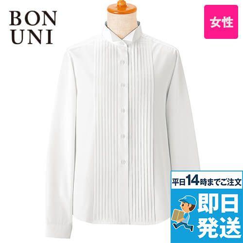 14210 BONUNI(ボストン商会) ピンタックシャツ/長袖(女性用)(ループ付)
