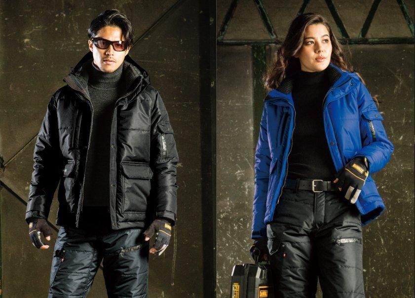 バートル7510防寒ジャケットのモデル着こなし