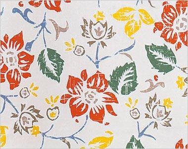 爽やかなビンテージ風の花柄プリント