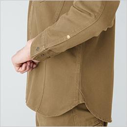 両脇 補強デザイン 両袖 カフスアジャスター
