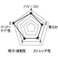 6013SC FOLKの生地グラフ