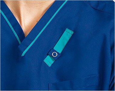 左胸 PHS.PDA 重量拡散ポケット・落下防止タブ