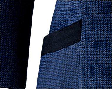 黒パイピングでおしゃれな斜めの両脇ポケット