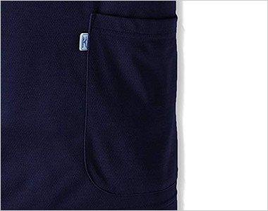 シンプルな両脇の箱ポケット