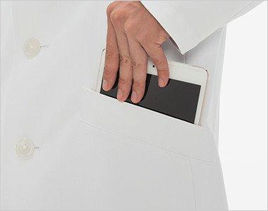 タブレットが収納できる脇ポケット