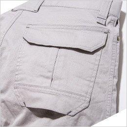 右バックポケットはフラップポケットで物が落ちにくい