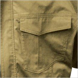両胸 ポケット付き