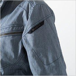 左袖 マルチスリーブポケット仕様+TSデザインロゴ刺繍入り